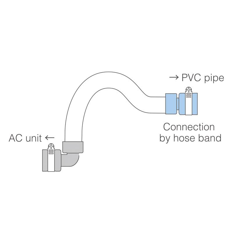 Drain-up hose STRAIGHT TYPE