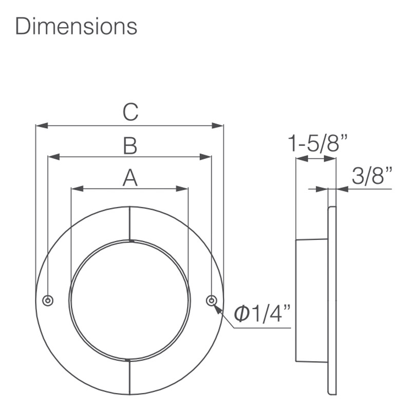 PSP FITTINGS WALL FLANGE
