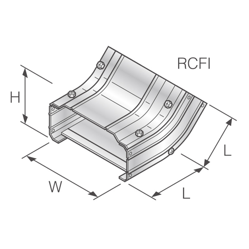 RCF 45° VERTICAL ELL
