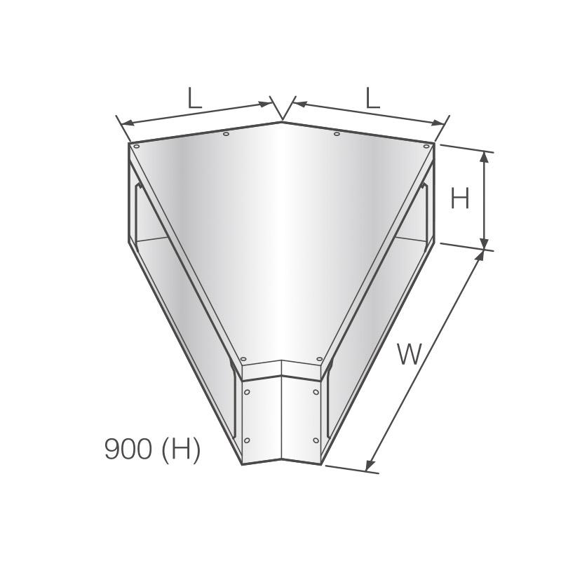 RF 45° FLAT ELL